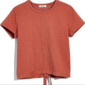 Madewell Verse Tie Back Top Pumpkin Orange Medium